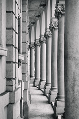 Capitals (tamstth) Tags: street trip travel blackandwhite bw white abstract black monochrome architecture canon photography photo europe hungary outdoor capital budapest capitals szechenyi blackandwhitephotos