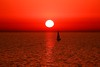 Sailing in a Red-World (Lior. L) Tags: sunset red reflection silhouette wow saiboat redworld
