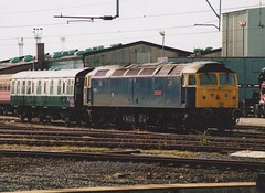 "Riviera Trains Class 47/8, 47839 ""Pegasus"" (37190 ""Dalzell"") Tags: pegasus spoon brush crewe duff sulzer class47 type4 dieseldepot 47136 oxfordblue 47621 47839 rivieratrains class478 d1727"