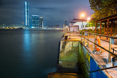 HK Pier and Harbour (fate atc) Tags: city hk night buildings lights fishing harbour central citylights kowloon hongkongisland centralgovernmentpier
