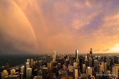 (7.13.16)-360_Rainbow_Storm-WEB-9 (ChiPhotoGuy) Tags: chicago storm weather skyline lightning rainbow cityscape epic clouds cloudporn 360chicago johnhancock hancock observationdeck rooftop stormy wx skyporn