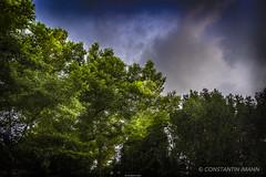 Die Natur und der Himmel (Constantin Imann) Tags: blue sky green nature clouds composition contrast canon germany deutschland europa europe natur stimmung effekt