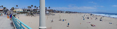 Manhattan Beach Panorama (kristenlanum) Tags: ocean california blue summer panorama beach water landscape pier losangeles sand pacific manhattanbeach