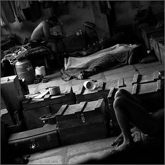 belongings, kusti (nevil zaveri (thank you for 10 million+ views :)) Tags: zaveri portrait india photo tradition traditional culture photography photographer photographs photos images stockimages photograph maharashtra nevil people man men nevilzaveri stock exercise wrestler wrestling motibaug akhara gymnasium sports recreation bodybuilding kolhapur pehlwani pehlwan body dangal young hostel sleep rest belonging stay accomodation bw blackandwhite monochrome square format games kusti