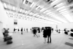 Taking It In (Sean Batten) Tags: city england urban blackandwhite bw blur london museum nikon gallery artgallery unitedkingdom outoffocus tatemodern gb d800 switchhouse 1424 photo24london