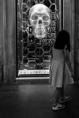 don't touch the children (@ntomarto) Tags: street city urban blackandwhite bw italy children skull strada italia child bambini citylife vetrina showcase biancoenero teschio citt bambina antomarto ntomarto donttouchthechildren