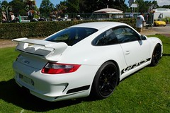 PORSCHE 911 GT3 Club Sport (xavnco2) Tags: forgesleseaux seinemaritime normandie normandy france fte andelle 2016 rassemblement voitures anciennes classic cars meeting automobile autos raduno porsche 911 gt3 997 cs blanche white