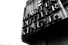 MLK (wwward0) Tags: cc letters manhattan martinlutherkingjr monochrome nyc outdoor sign upperwestside uws wwward0 newyork unitedstates us