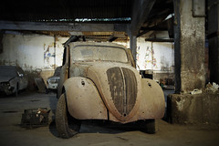 No more Skying (iMarco79) Tags: old abandoned portugal car antique decay garage uga decayed abandonado dcadence