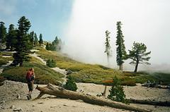 . (Kellen Mohr) Tags: california trees sky film fog clouds 35mm kodak hiking baldy sangabrielmountains kellenmohr