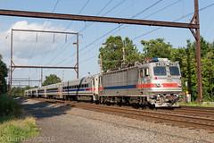 SEPTA 6352 @ Langhorne, PA (Dan A. Davis) Tags: septa aem7 pushpull commutertrain railroadphotography langhorne pa