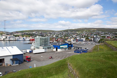 Viewing the Torshavn ferry terminal (kaszeta) Tags: faroeislands skansin trshavn streymoy fo