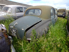 Scrap Rover . (steven.barker57) Tags: england green classic car rust north cyclops east waste scrap rare p4 hartlepool