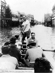 Maitland, N.S.W., February 1955 flood (maitland.city library) Tags: maitland newsouthwales floods flooding floodwater flood 1955 february publicworks mitigation blueroom hunter valley morpeth high street town hall boat rowing rescue