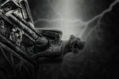Gargoyle 2016-07-11 (ajhaysom) Tags: gargoyle lightning digitalart