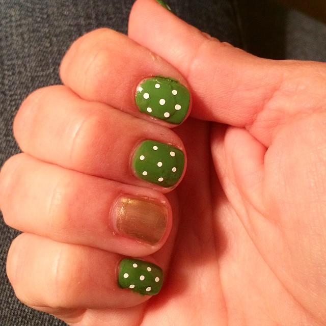 St. Patricks Day nails #stpatricksday #manicure #nails