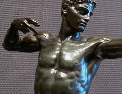 Sir William Hamo Thornycroft, (1850-1925, Teucer, 1889 (jacquemart) Tags: bronze naked nude muscular william hero sir 1889 athelete newbondstreet hamo teucer sirwilliamhamothornycroft londonfinearts londonmarch2015 thornycroft18501925teucer1889
