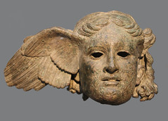 Hypnos, Greek God of Sleep, bronze head from a statue, 3rd cent BC (Monopthalmos) Tags: thebritishmuseum hypnos somnus godofsleep