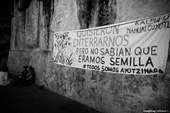 Seis meses y nada. (cefuenco) Tags: blackandwhite blancoynegro streetphotography méxicodf ayotzinapa fotografíacallejera originalphotographer
