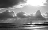 Rays of light. R.IMGP6330 (candysantacruz) Tags: santacruz beach clouds blackwhite waves montereybay pacificocean sunrays eveninglight twinlakesbeach waltonlighthouse scphoto
