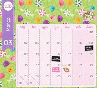 Calendário de Março :: 2015 • BoniFrati