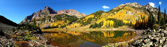 Crater Lake Pano (Jonathan Urrutia) Tags: autumn bells colorado maroon fallcolors aspens craterlakeco