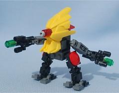 Voodoo Red (Mantis.King) Tags: lego scifi voodoo mecha mech moc microscale mechaton mfz mf0 mobileframezero