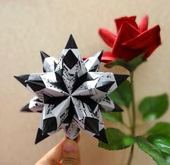 Bascetta Star (Paolo Bascetta) (OrigamiSunshine) Tags: music art rose ball paper spiky star origami modular sheet fold paperfolding bascetta paolobascetta origamisunshine
