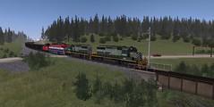 TS12 - Bullmoose mine run (atsf854 (matt)) Tags: bc rail jr ridge trainz tumbler jointed sd402 gf6c ts12
