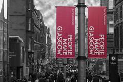 People Make Glasgow (Gav Justice) Tags: uk people scotland unitedkingdom glasgow banner buchananstreet busy 70d glasgowcitycentre canon70d peoplemakeglasgow