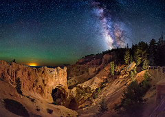 Natural Bridge at Night (Wayne Pinkston) Tags: nightphotography lightpainting night canon stars star naturalbridge galaxy astrophotography nightsky brycecanyon milkyway brycecanyonnationalpark stonearch canon6d landscapeastrophotography wwwlightcrafterco waynepinkston lightcraftercom