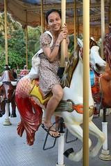 2015-03-15 Vinpearl, Nha Trang, Vietnam 5031 (HAKANU) Tags: city horse girl beautiful lady island ride carousel vietnam phuong entertainment riding merrygoround nhatrang vinpearl