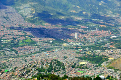 Medellín (Gedsman) Tags: city urban sculpture mountain art church southamerica car america colombia cathedral metro south traditional colonial culture cable tradition hillside medellin escobar cultural slum botero antioquia