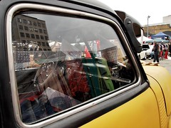 Reflections (Cath Dupuy) Tags: london cars ford chevrolet thames vintage austin river shopping 60s riverside sale cadillac retro southbank 50s cocacola morris rocknroll timeout classiccars stalls bricabrac 40s bootsale mannequi dayouy