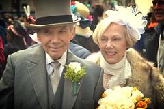 Adorable Couple (KaDeWeGirl) Tags: newyorkcity easter manhattan hats parade midtown fifthavenue bonnets sundaybest