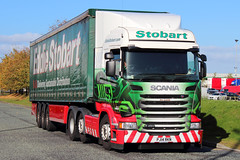 Stobart Group - Scania R450 - PJ14RKN 'Ina Louise' (Andy2982) Tags: truck warrington cheshire scania appletonthorn eddiestobart r450 stobartgroup curtainsidedtrailer deliveringsustainabledistribution inalouise h6924 pj14rkn