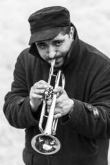 trumpeter (Cranswick852) Tags: blackandwhite bw music london canon blackwhite trumpet canon5d 6327 ef70200mmf28lisusm canon5dmkiii canon5dmk3