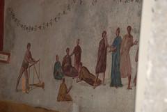 Tomba dei Dipinti (particolare) - Aula Decima - Terme di Diocleziano - Roma