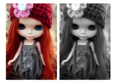 She Eats Men Like Air (Miz N.) Tags: red hair big eyes doll blythe prairie posie rbl