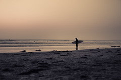 the space between things (steve.walsh) Tags: california sunset surf sandiego lajolla surfboard scripps