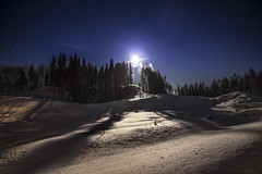 The Night Believer (MilaMai) Tags: stars forest shadow light moon moonlight moonrise flare snowscape snowdrift deep snow trees silhouettes night nightphotography nightsky joensuu easternfinland finland milamai originalimage landscape cold snowfield waves hill shiningthrough moonlit