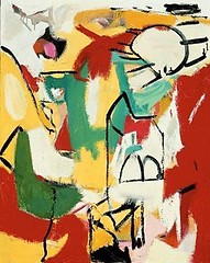 Black on Green, Red, and Yellow, 1948 // by Franz Kline (American, 19101962) (mike catalonian) Tags: abstract 1948 painting us 1940s franzkline