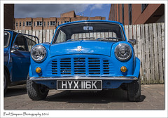 Classic Mini HYX 116K (Paul Simpson Photography) Tags: icon lincoln iconic bluecar smallcar photosof imageof photoof britishicon imagesof leylandcars sonya77 paulsimpsonphotography april2016