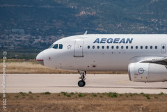 This is how a smiling A320 with red lipstick should look like! (onemoregeorge.frames) Tags: nikon aegean may greece airbus omg a320 ath 2016 lgav d40x sxdgw onemoregeorge