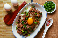 Classic Catonese Dish - Minced Beef w/ Egg Over Rice - Homemade (sheryip) Tags: food with rice beef egg over chinese foodporn homemade cantonese minced