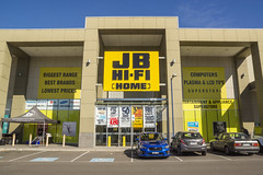 JB Hi-Fi (Kokkai Ng) Tags: blue people sign shop horizontal retail shopping day factory break suburban entrance sunny australia melbourne shoppingcentre business electronics customer jb supplychain hifi consumerism branding chainstore clearsky accessibility factoryoutlet buildingentrance dfo electricalequipment consumerelectronics entrancesign videoshop themedia buildingexterior plugsocket instrumentofmeasurement builtstructure essendonbombers audiohardware victoriastate traditionallyaustralian