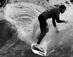 Surfer (heiko.moser) Tags: people bw blancoynegro water canon person mono blackwhite wasser noiretblanc surfer wave nb sw monochrom publicity schwarzweiss personen wellen schwarzweis heikomoser