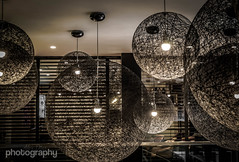Lamped. (Alex Chilli) Tags: lighting uk england london lights hotel design style shades lamps southwark bankside citizenm