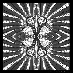 Kaleidoscope_16a (Marc Funkleder Photography) Tags: blackandwhite bw abstract berlin geometric glass motif monochrome architecture composition germany deutschland nikon sonycentre noiretblanc steel sony kaleidoscope symmetrical allemagne surrealistic verre helmutjahn abstrait acier symtrie surraliste postdamerplatz fondnoir gomtrique 2470mm28 symtrique nikond600 bordurephoto