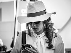 Chapeau (totofffff) Tags: street 2 white black france film festival alpes french riviera noir cannes 10 d mark olympus ii e om blanc maritimes croisette mditerrane